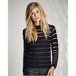 Sheer Stripe Knitted Jumper