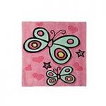Pink Butterfly Childrens Rug