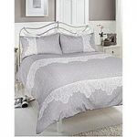 Camille Printed Lace Duvet Cover Set